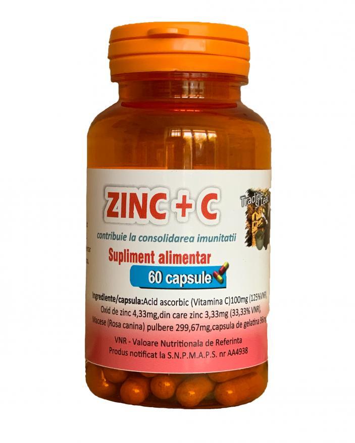 ZINC+VITAMINA C MEDICER(Cu macese) 60 CAPSULE